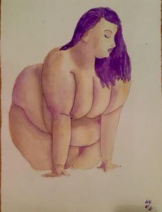 """Acceptance"", finished watercolour painting of Angelina Duplisea, @anactingangel, 14/09/17, 770mm x 570mm"