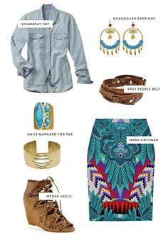 (P)inspiration: Dressed Up Denim  http://emilymaynard.com/blog/pinspiration-dressed-up-denim/