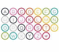 Adorable alphabet garland printable