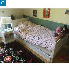 Lit 90 x190 avec tiroir + chevet Baudou, une occasion cote-enfants.com