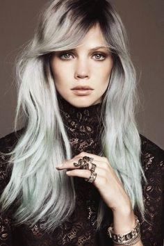 #Blond Hair Platinum #Fantasy #Blue