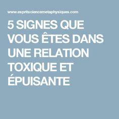 5 SIGNES QUE VOUS ÊTES DANS UNE RELATION TOXIQUE ET ÉPUISANTE Plus