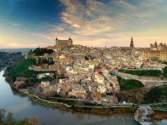Toledo-In central Spain. Famous medieval city near Madrid, on the Tajo River. It is important in metalwork, especially fine steel and exquisite jewelry. It was the home of the painter El Greco, and contains many of his work. Places In Spain, Oh The Places You'll Go, Places To Visit, Toledo Spain, Most Beautiful Cities, Spain Travel, Vacation Spots, The Great Outdoors, Adventure Travel