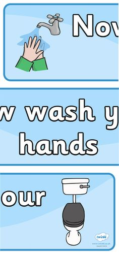 Twinkl Resources >> Now Wash Your Hands Sign >> Thousands of printable primary teaching resources for EYFS, KS1, KS2 and beyond! hand washing, now wash your hands, KS1 resource, stage area signs, banner, toilets, boys, girls, classroom labels, area labels, area signs, poster, display