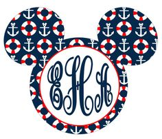 This adorable Anchors Mickey with Monogram is the perfect graphic for making t-shirts, magnets, using on planning pages...or anywhere you can
