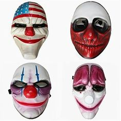 Payday 2 Dallas,Hoxton,Wolf,Chains Mask 4pcs -- Learn more by visiting the image link.