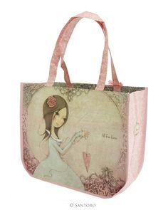 Large Shopping Bag - All For Love, Santoro's Mirabelle from Santoro