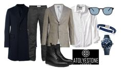 """Men's Fashion"" by atolyestone ❤ liked on Polyvore featuring Banana Republic, Fjällräven, Giorgio Armani, Oliver Peoples, OMEGA, men's fashion and menswear"