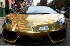 World's most expensive car? gold Lamborghini seen in Paris World Expensive Car, My Dream Car, Dream Cars, Gold Lamborghini, Advanced Driving, Joy Ride, Luxury Lifestyle, Super Cars