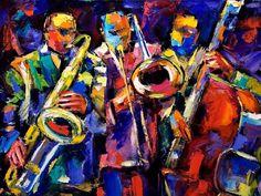 pinturas-de-jazz-by-leonid-afremov by maditabalnco via Slideshare Jazz Songs, Jazz Music, Music Genre, Jazz Painting, Tracing Art, Frames For Canvas Paintings, New Orleans Art, Jazz Art, Cool Jazz