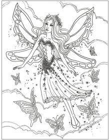 Amazoncom Fairy Lane Enchanting Fairies to Color Vol 1 by