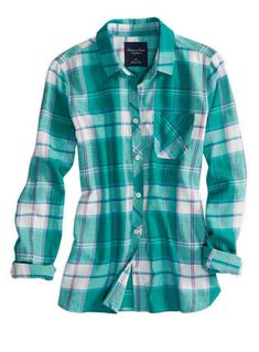 AE REAL SOFT EPIC FLANNEL SHIRT