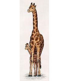 Giraffe Mother & Baby Cntd X-Stitch Kit