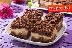 CZEKOLADOWA SZARLOTKA Z BUDYNIEM Polish Desserts, Something Sweet, Tiramisu, Pudding, Sweets, Baking, Ethnic Recipes, Food, Cakes