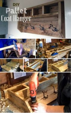 How to build an easy DIY coat hanger from pallet wood @istandarddesign