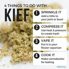 What the heck are you supposed to do with kief anyway? Now you know.
