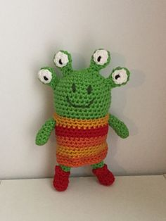 """PDF Pattern for Crochet Amigurumi """"Wanda and the Alien"""" Inspired Alien Doll by Shimmeree Creations on Ravelry"""
