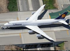 "Lufthansa German Airlines Boeing 747-830 aircraft picture at Los Angeles (LAX).  I can already hear LDS Church President Thomas Monson telling his 2nd Counselor; ""Don't even think about it Dieter (Uchtdorf)!""  :-)"