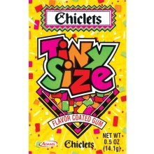 Chiclets Tiny Size Flavor Coated Gum In a Packet