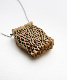 """honeycomb"" pendant by the always-wonderful tinctory."