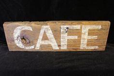 Rustic Barn Wood CAFE Sign Wall Art Reclaimed by ArtfullyRustic