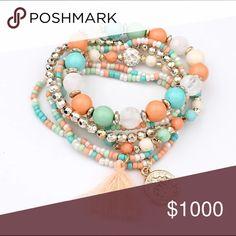 Layered Tassel Bracelet Beautiful elastic bracelets. Kat's Boutique Jewelry Bracelets