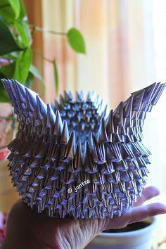 jantta: Origami swan kahvipusseista
