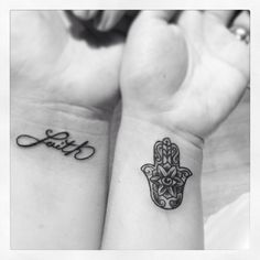 Bbf inked . Small tattoos. Hamsa tattoo . Faith tattoo