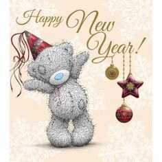 New Year Me to You Bear Card : Me to You Bears Online - The Tatty Teddy Superstore. Greetings Images, Happy New Year Greetings, New Year Wishes, New Year Card, Happy New Year Friend, Tatty Teddy, Urso Bear, Teddy Bear Pictures, Blue Nose Friends
