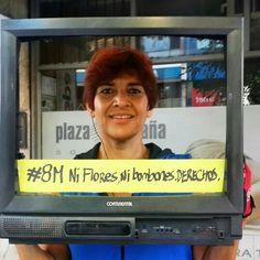 #8M #NiFloresNiBombones #Derechos #DiaInternacionalDeLaMujer trabajadora #LaTVdelaCalle by tri #photo #foto #pics