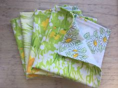 double sided napkins made from vintage fabrics Reuse, Upcycle, Vintage Fabrics, Vintage Kitchen, Napkins, Etsy Seller, Handmade Gifts, Home Decor, Kid Craft Gifts