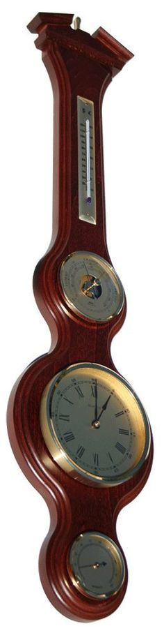 Fischer Instruments 4921-22 Solid Mahogany Banjo Weather Station with Red Spirit Thermometer, Hygrometer, Barometer, Clock >>> See this great product. (This is an affiliate link and I receive a commission for the sales)