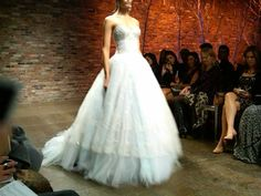 So romantic! Gown by Lazaro