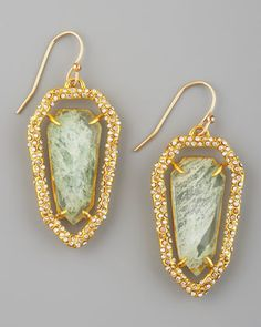 Pave Shield Earrings by Alexis Bittar at Neiman Marcus.