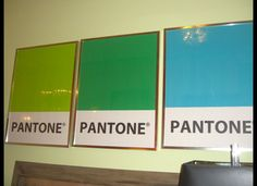 I saw these cool pieces in a furniture store in Miami. They were done in the 1960s as a Pantone promotion ad. I was drawn to the amazing colors and cool graphics.