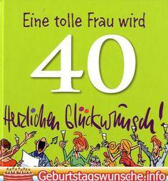 Geburtstagswunsch 40 jahre