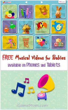 Free Musical Videos for Babies on Tablets and Phones #kidsapps #FreeApps #MusicApps