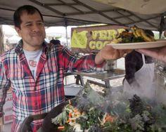 Portland's Hispanic American Culture. Picture: Verde Cocina chef Noe Garnica at the Portland Farmers Market