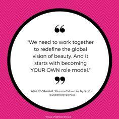 It's simple - be your own role model. Wise words from Ashley Graham #rolemodel #model #ashleygraham