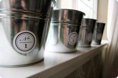 galvanized buckets from ikea - $1.99  these are so great for SO many things...