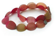 Yoko Izawa 'Small Petals' from knitted Lycra and nylon yarn with perspex, polypropylene and precious metals