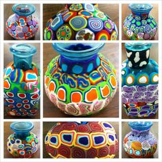 Angela Anderson Art Blog: Polymer Clay Covered Vases - Summer Art Camp 2013