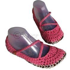 cute crochet shoes.
