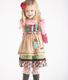 "(Matilda Jane: ""Paint By Numbers"") Wonderful Winter Knot Dress"