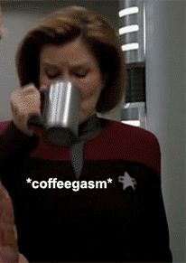 She's always made it clear that coffee is of upmost importance. | 46 Times Captain Janeway Was So Sassy It Hurt