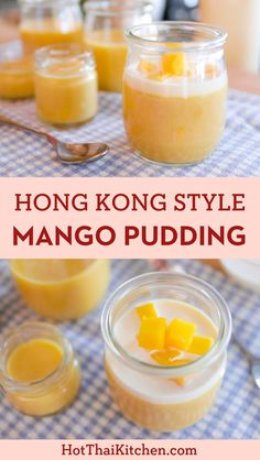 Mango Pudding (Hong Kong Style) Must-try for mango fans! A classic dim sum dessert, this Hong Kong style pudding is fully loaded with sweet ripe mango. Luscious, fruity, and oh so easy! And it's gluten free! Mango Desserts, Asian Desserts, Desserts To Make, Great Desserts, Asian Recipes, Sweet Recipes, Snack Recipes, Cooking Recipes, Mango Recipes For Dessert