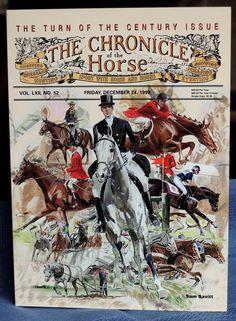 Sam Savitt Art Chronicle of the Horse Turn of the Century issue 1999