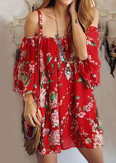9e731e6ada34 Summer Style Women dresses Batwing Sleeve Floral Chiffon dress sexy  off-shoulder Beach dresses
