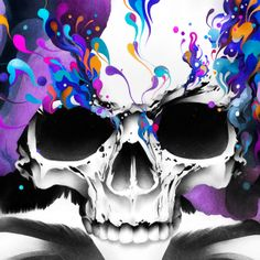 Ruben Ireland - Illustration - Skull