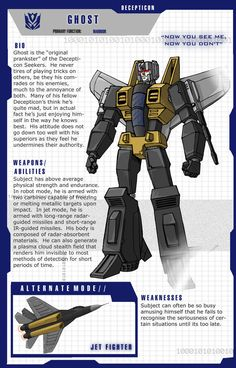 Another quick and dirty re-colouring of some old line art. This is a bit of a G2 amalgamation. His colour scheme is based on the G2 Ramjet toy's scheme. His name is actually what G2 Dre...